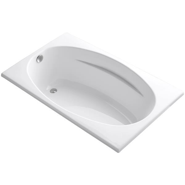 KOHLER Drop-In Bath - 36-in x 18.13-in - Acrylic - White