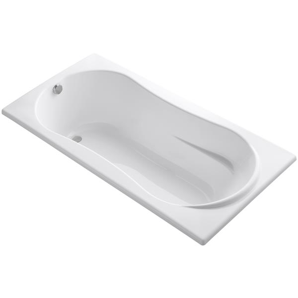 KOHLER Drop-In Bath - 36-in x 20.13-in - Acrylic - White