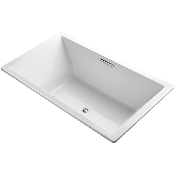 KOHLER Underscore Drop-In Bath - 42-in x 22-in - Acrylic - White