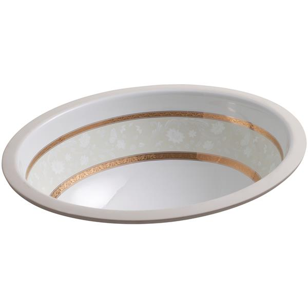 KOHLER Undermount Sink - 19.4-in x 8.2-in - Porcelain - White