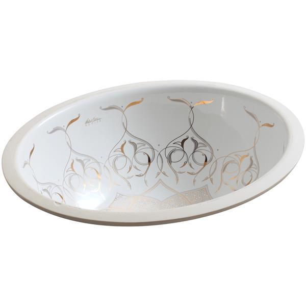 KOHLER Undermount Sink - 19.2-in x 8.2-in - Porcelain - White