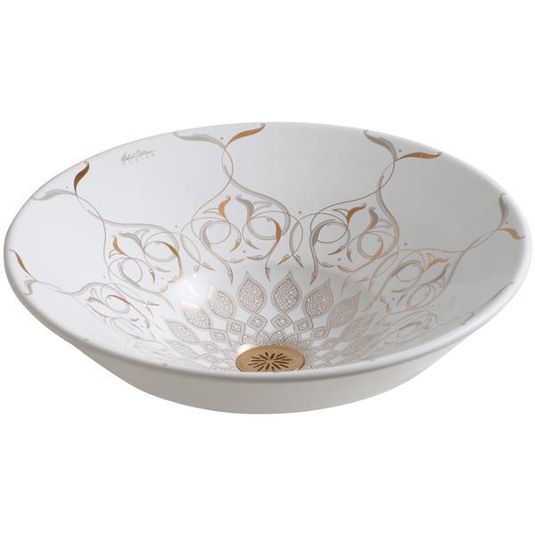 KOHLER Caravan Persia Vessel Sink - 16.25-in - Porcelain - White