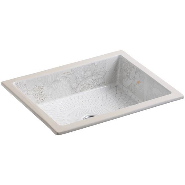 KOHLER Undermount Sink - 15.63-in x 6.75-in - Porcelain - White