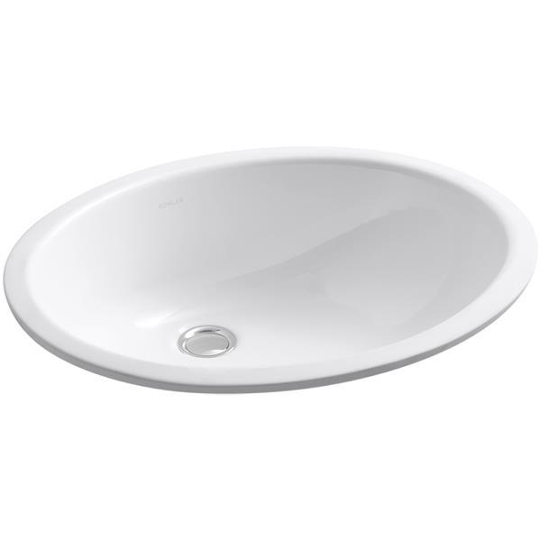 KOHLER Caxton Undermount Sink - 16.25-in - Porcelain - White