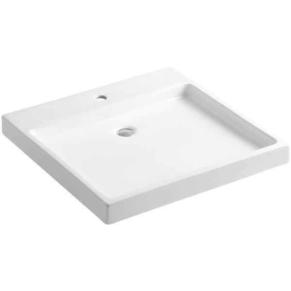 KOHLER Sink - 23.5-in x 4.06-in - Clay - White
