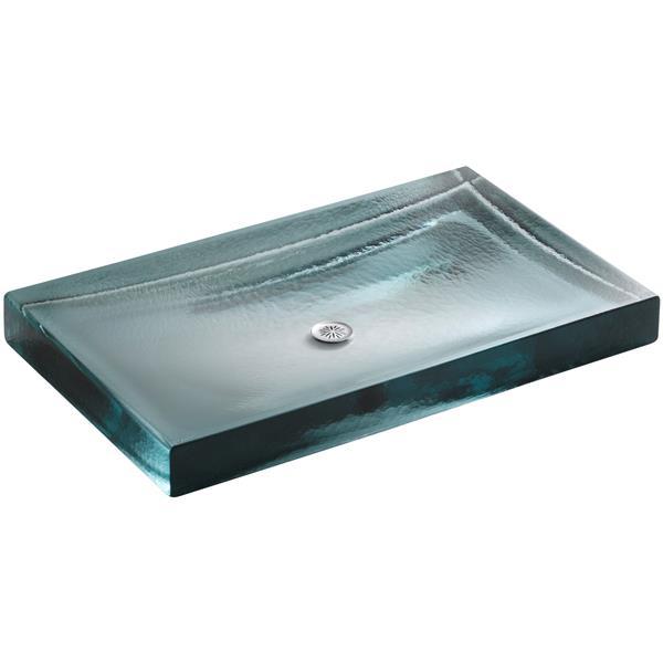 KOHLER Antilia Vessel Sink - 17.06-in x 2.75-in - Glass - Clear
