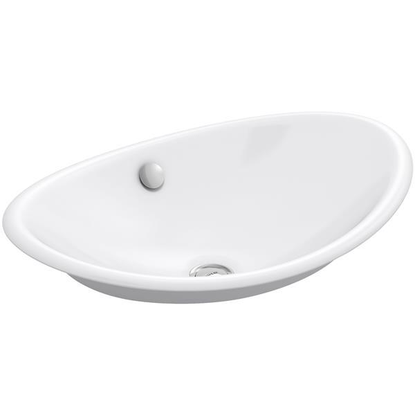 KOHLER Iron Plains Console Sink - 14.25-in - Cast Iron - White