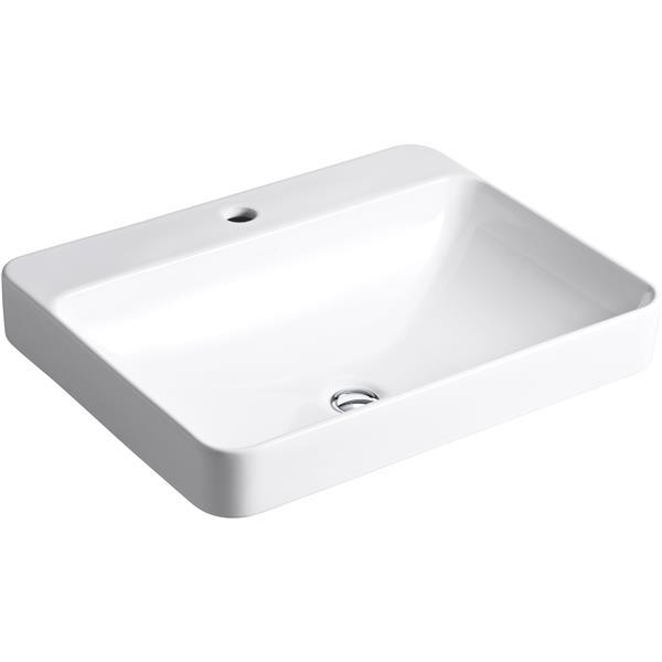 "Vasque Vox, 18,13"" x 6,88"", porcelaine, blanc"