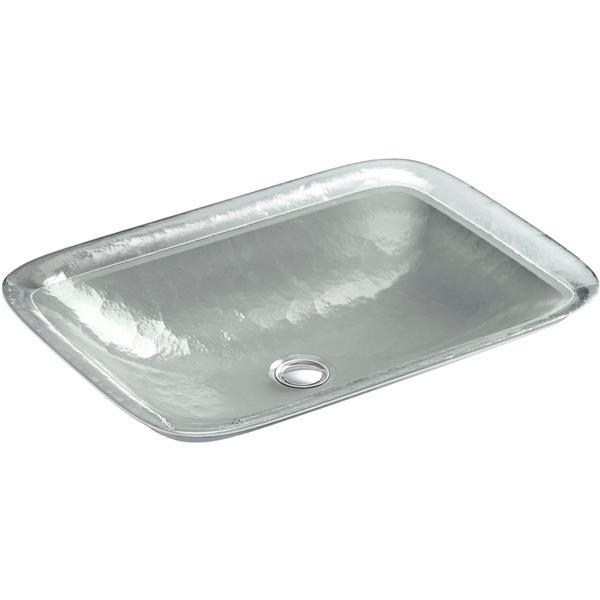 KOHLER Inia Vessel Sink - 14.94-in - Glass - Clear