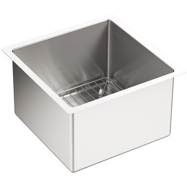 KOHLER Under-Mount Bar Sink with Rack -Stainless Steel