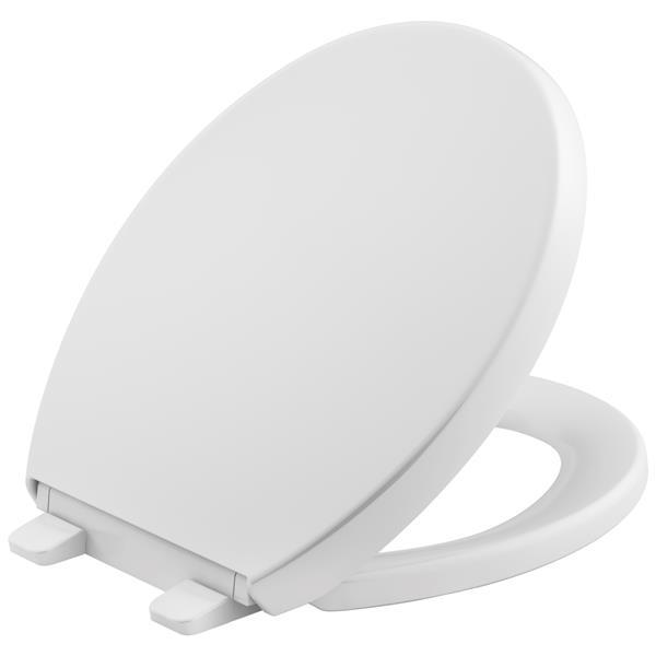 """Siège de toilette Reveal, 15,75"""", plastique, blanc"""