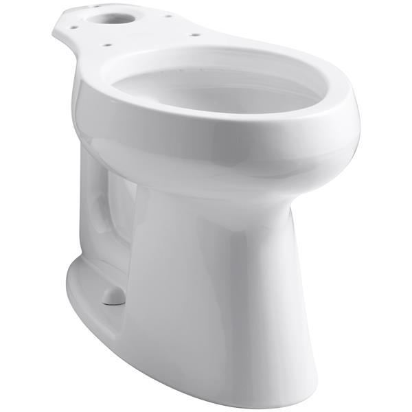 """Cuvette de toilette allongée Highline, 16,5"""", blanc"""