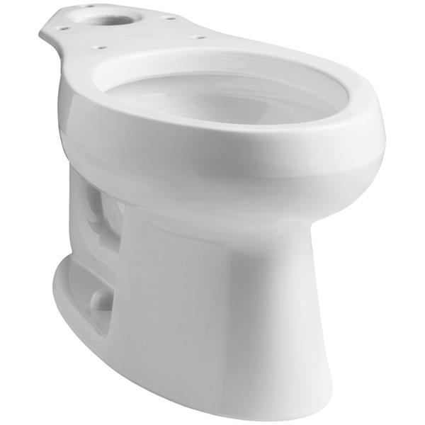 KOHLER Wellworth Elongated Toilet Bowl - 14.5-in - White