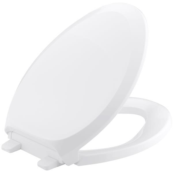 """Siège de toilette French Curve, 18,06"""", plastique, blanc"""