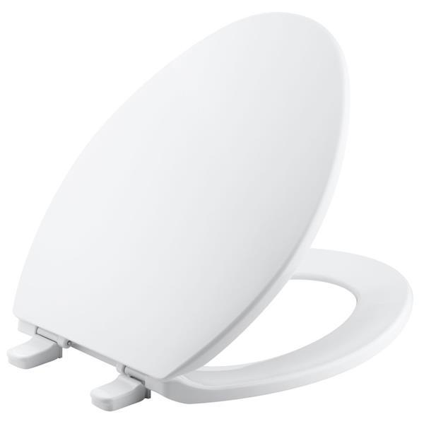 KOHLER Brevia Toilet Seat - 18.6-in - Plastic - Almond