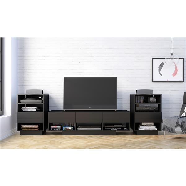 Nexera Stereo Entertainment Set TV Stand and audio cabinet - Black
