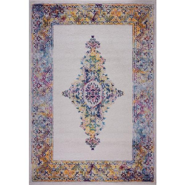 La Dole Rugs® Saba Traditional Area Rug - 4' x 6' - Cream/Multicolour