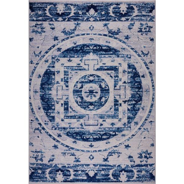 La Dole Rugs®  Kahina Traditional Botanical Big Rug - 3' x 10' - Blue