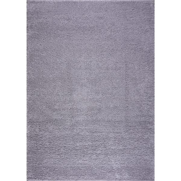 La Dole Rugs® Shaggy Meknes Small Runner - 3' x 5' - Light Grey