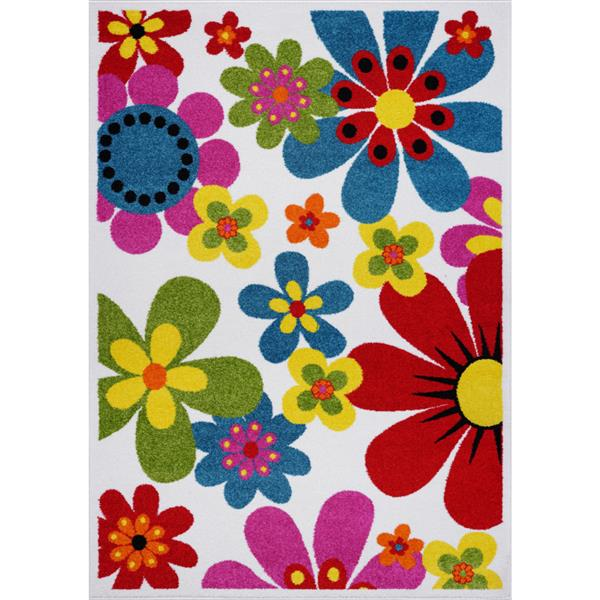 La Dole Rugs®  Floral Rectangular Area Rug - 6' x 9' - Multicolour