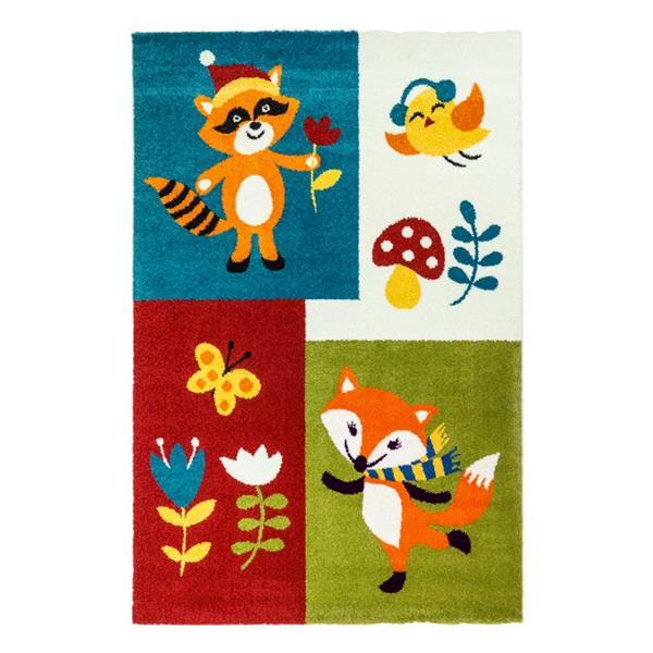 "La Dole Rugs®  Kids Fox Area Rug - 6' 2"" x 9' 2"" - Multicolour"