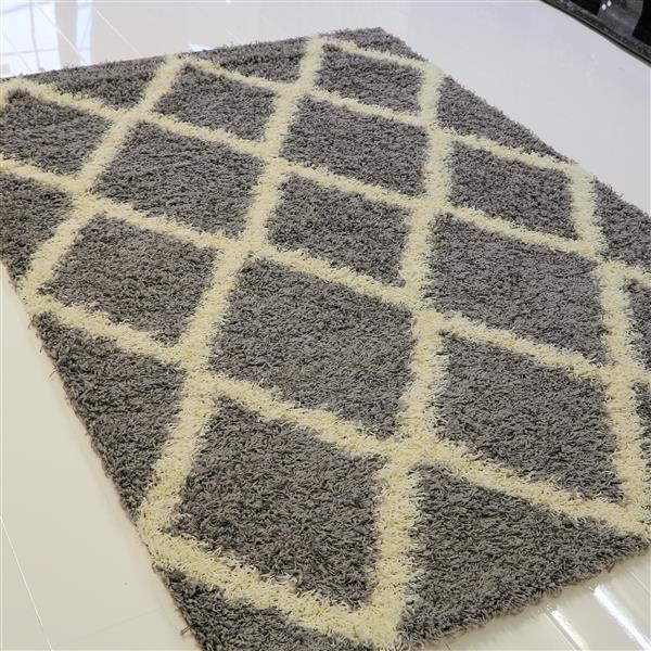 La Dole Rugs®  Diamond Rectangular Area Rug - 7' x 10' - Grey/Cream