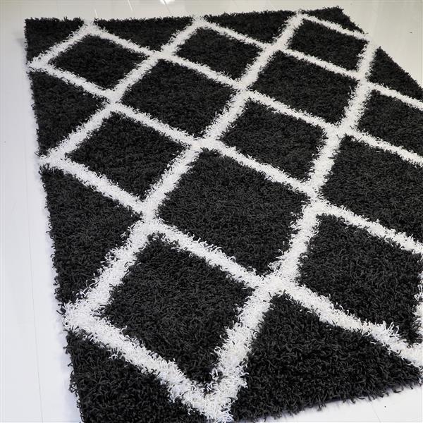 La Dole Rugs®  Diamond Rectangular Area Rug - 8' x 11' - Grey/White