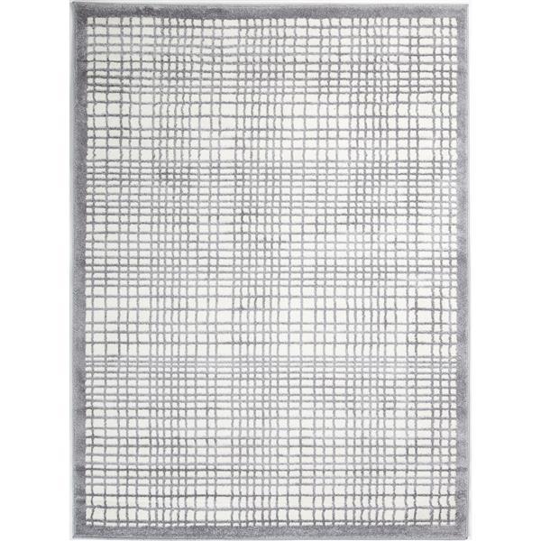 "La Dole Rugs®  Geometric Square Area Rug - 5' 2"" x 7' 3"" - Grey"