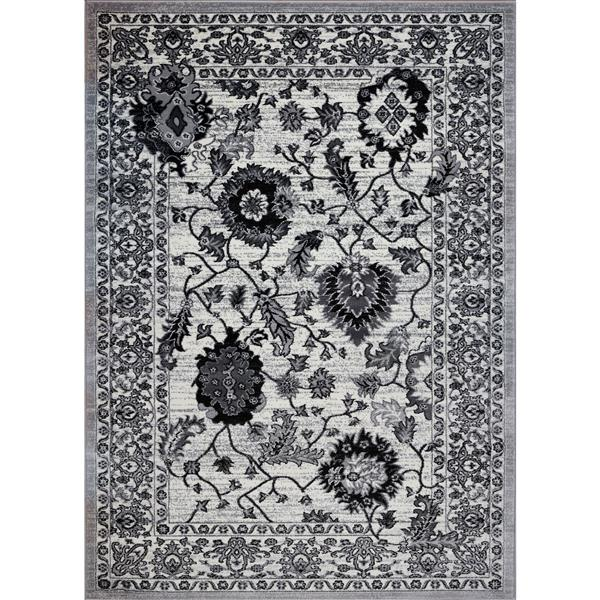 La Dole Rugs®  Floral Contemporary Rectangular Area Rug - 4' x 6' - Cream