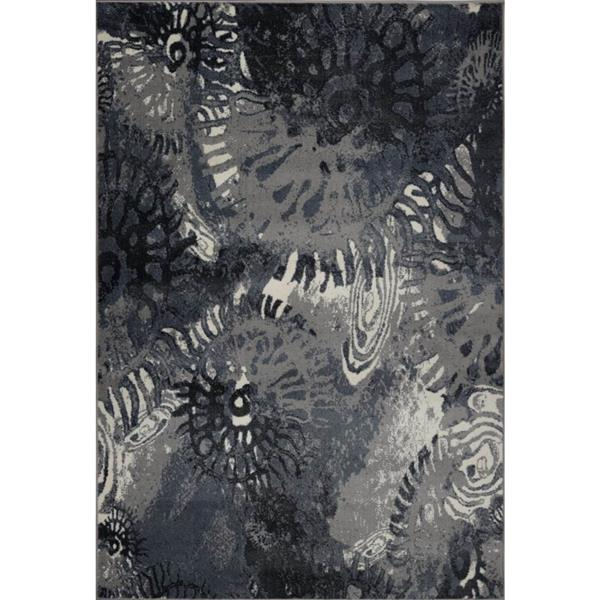 Tapis turque rectangulaire «Casa Loma», 7' x 10', gris/crème