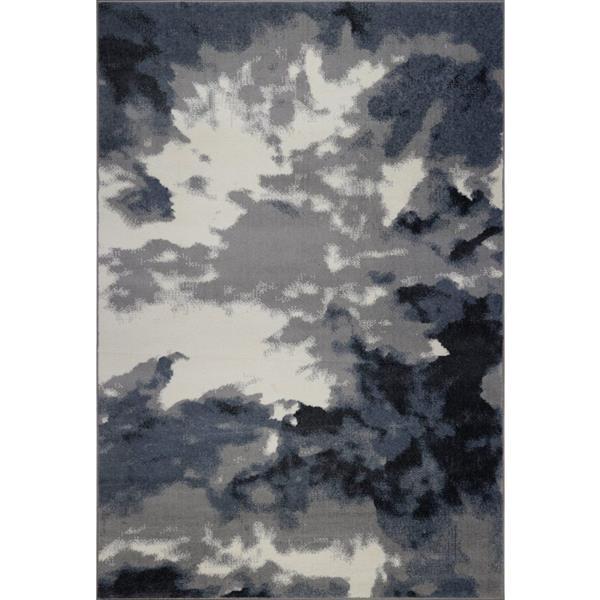 La Dole Rugs® Toronto Sky Turkish Area Rug - 5' x 8' - Grey/Ivory