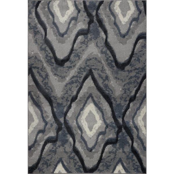 La Dole Rugs®  Etobicoke Turkish Rectangular Rug - 8' x 11' - Grey/Cream