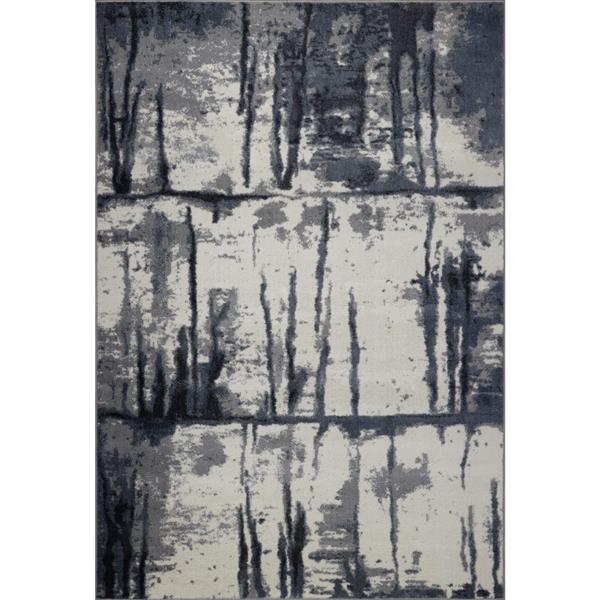 La Dole Rugs® Niagara Turkish Rectangular Area Rug - 3' x 10' - Grey/Ivory