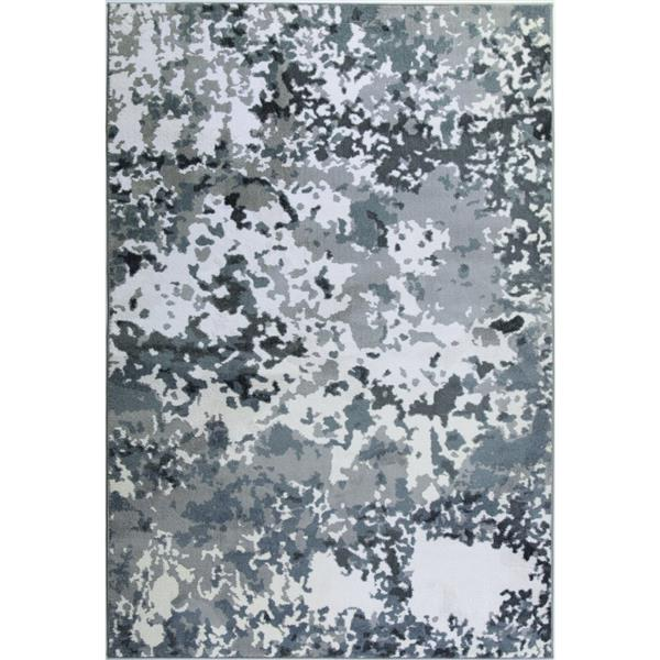 La Dole Rugs® Oshawa European Rectangular Rug - 3' x 5' - White/Grey