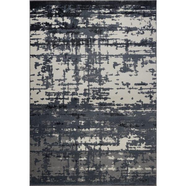 La Dole Rugs®  Barrie Turkish Rectangular Area Rug - 7' x 10' - Grey/Ivory
