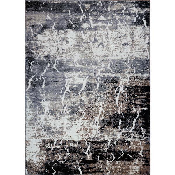 La Dole Rugs® Sandbanks Abstract Contemporary Rug - 8' x 11' - Grey/Biege