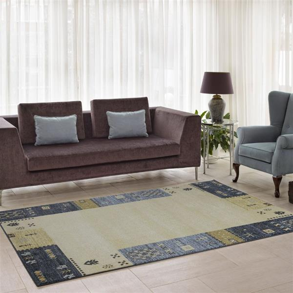 La Dole Rugs®  Guinea European Rectangular Area Rug - 3' x 10' - Grey/Cream