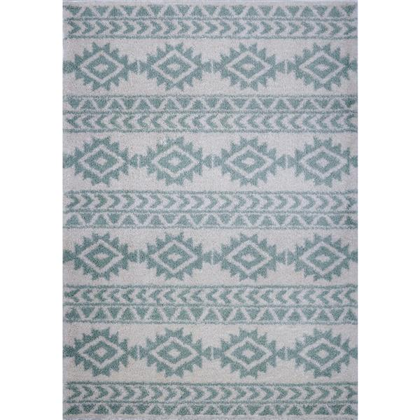 La Dole Rugs®  Creative Simplicity Trellis Rug - 7' x 10' - Ivory/Green