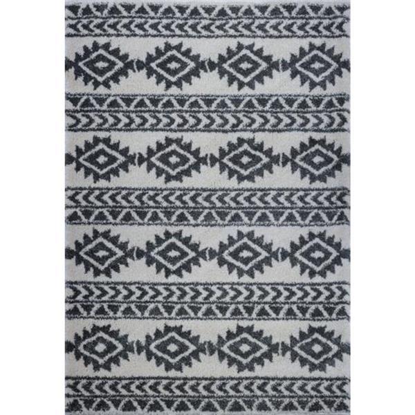 La Dole Rugs®  Creative Simplicity Trellis Area Rug - 8' x 11' - Ivory/Grey