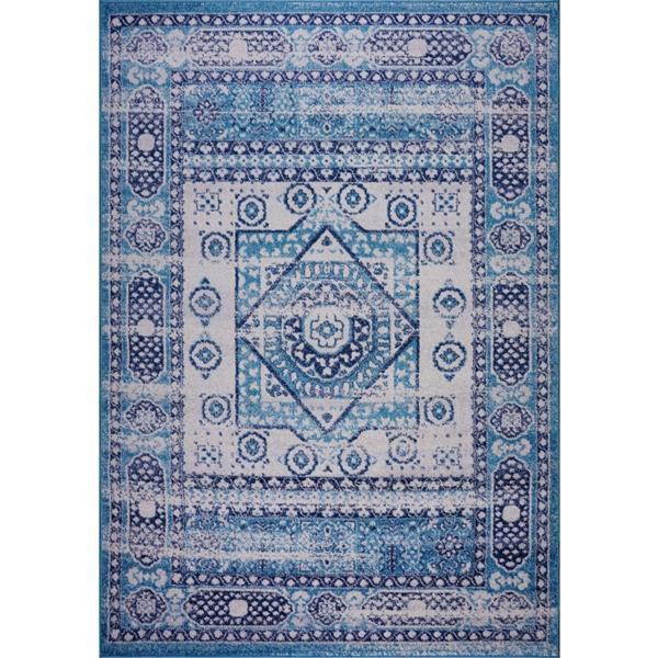 La Dole Rugs® Zosia Area Rug - 2.6' x 9.8' - Polypropylene - Blue