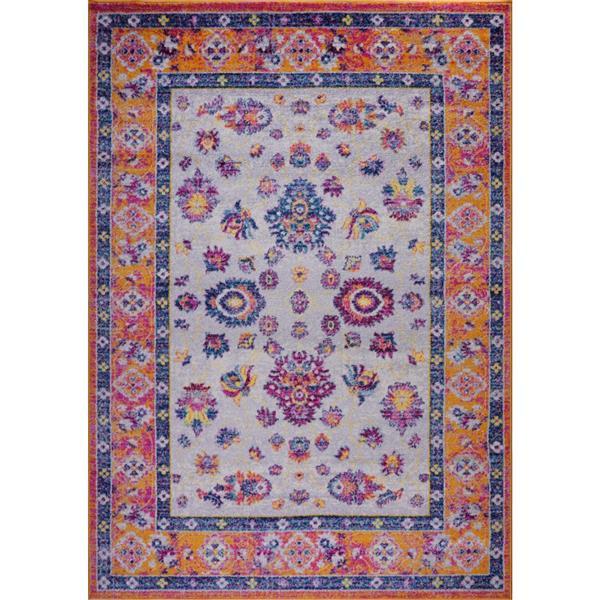 La Dole Rugs® Topaz Area Rug - 3.9' x 5.6' - Polypropylene - Orange/Pink