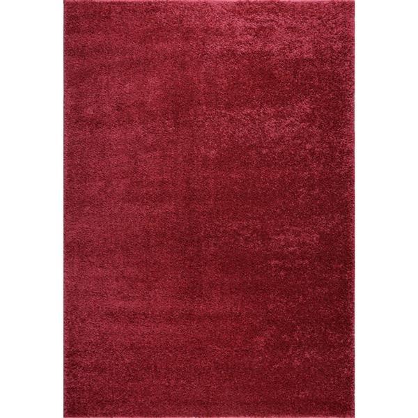 Tapis Meknes, 6,4' x 9,4', polypropylène, rose/rouge