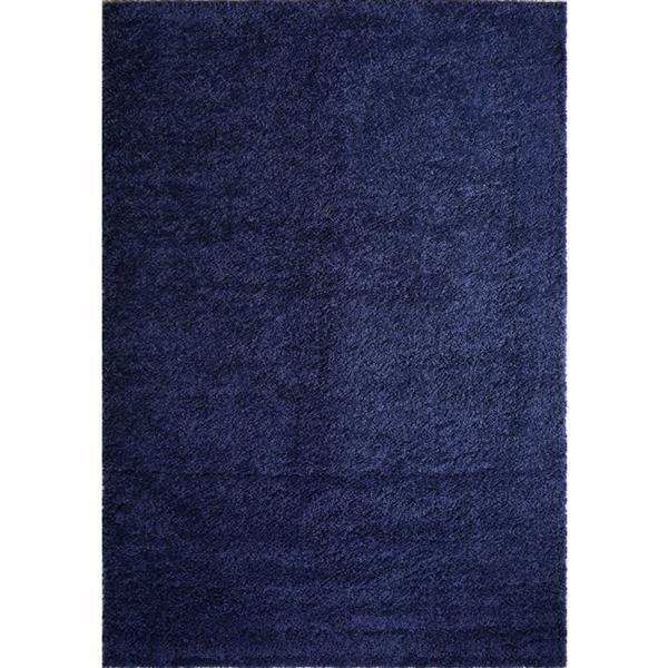 Tapis Meknes, 5,3' x 7,5', polypropylène, bleu marin