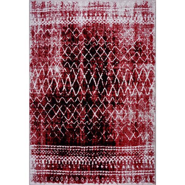 La Dole Rugs® Verona Area Rug - 6.4' x 9.4' - Polypropylene - Red/Black