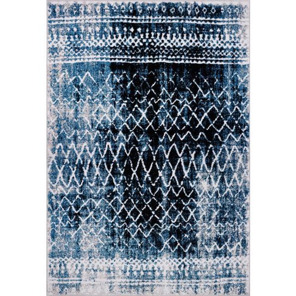 La Dole Rugs® Verona Rug - 6.4' x 9.4' - Polypropylene - Turquoise/Black