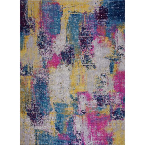 Tapis Yorkson, 6,4' x 9,4', polypropylène, multicolore