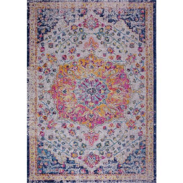 La Dole Rugs®  Area Rug - 7.8' x 10.4' - Polypropylene - Multicolour