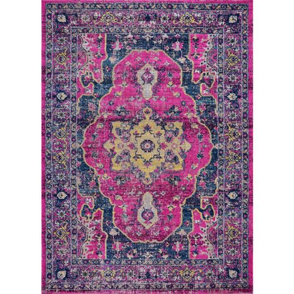 La Dole Rugs®  Beverly Area Rug - 6.4' x 9.4' - Polypropylene - Pink/Purple