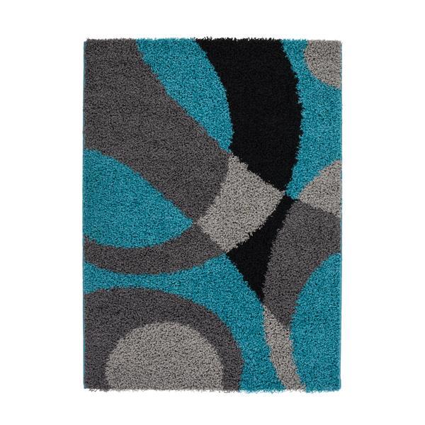 La Dole Rugs® Turkish Area Rug - 7.8' x 10.4' - Polypropylene - Blue/Gray