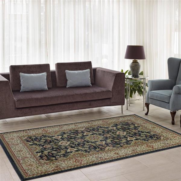 La Dole Rugs® Traditionnal Rug - 5.3' x 7.5' - Polypropylene - Dark Gray